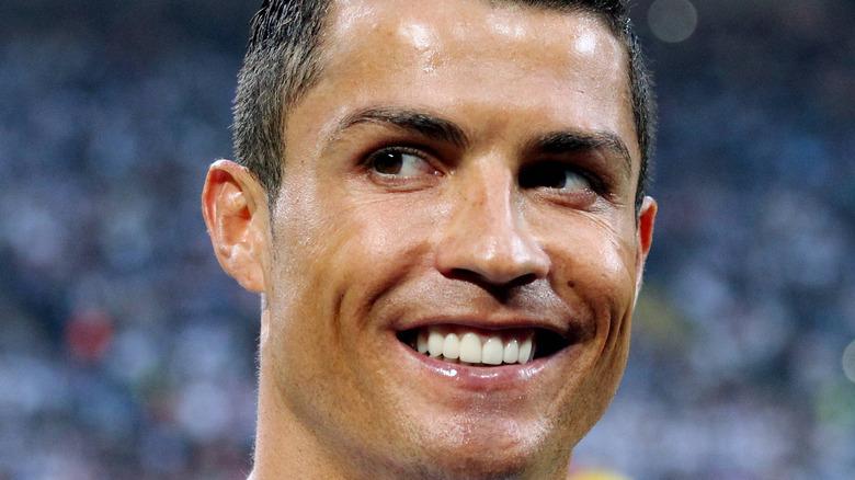 Cristiano Ronaldo smiling