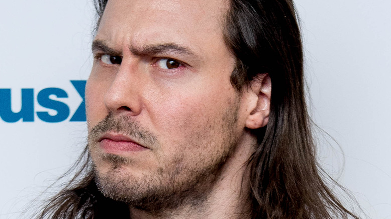 Andrew W.K. making an angry face with facial hair