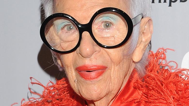 Iris Apfel wearing glasses