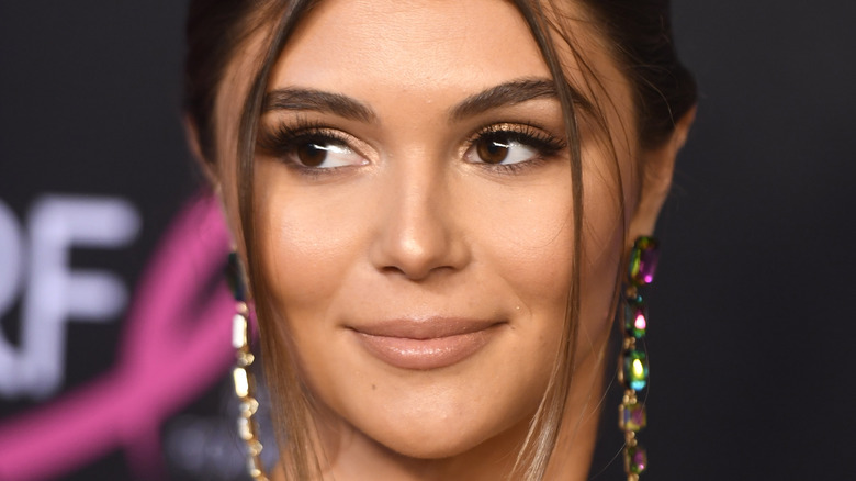Olivia Jade poses on the red carpet