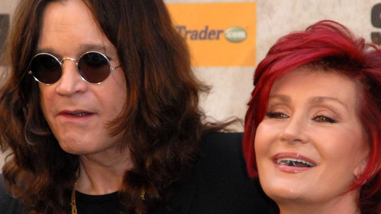 Sharon and Ozzy Osbourne posing