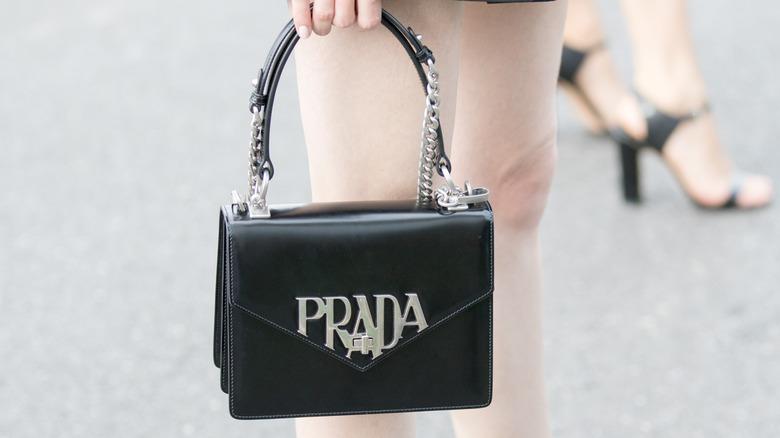Prada bag as street style