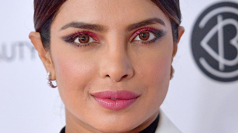 Priyanka Chopra poses on the red carpet