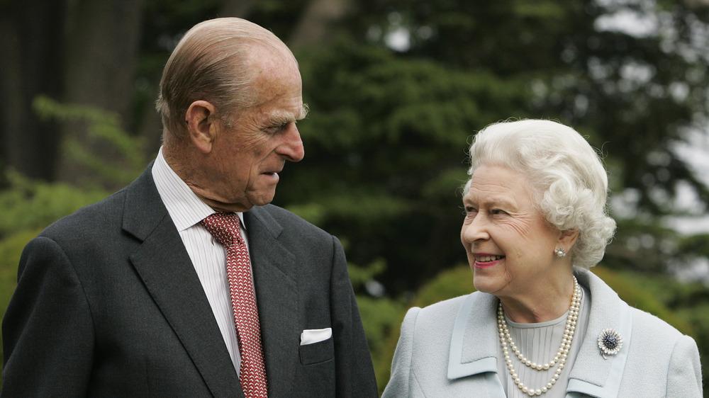 Prince Philip and Queen Elizabeth smiling