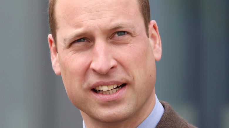 Prince William looking up