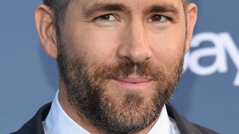 closeup of Ryan Reynolds' face
