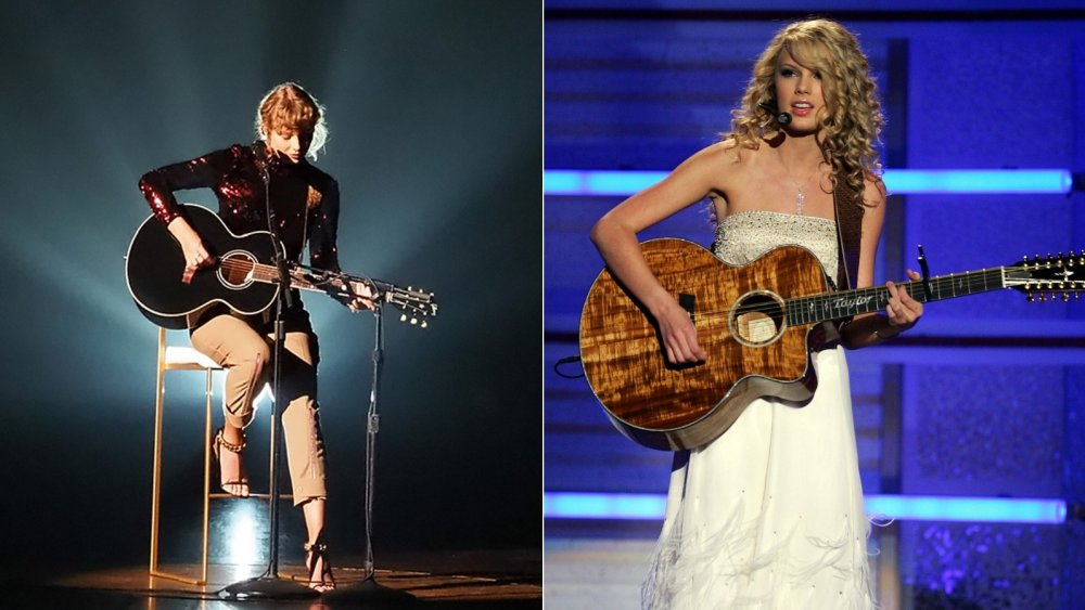 Taylor Swift at 2007 and 2020 ACM