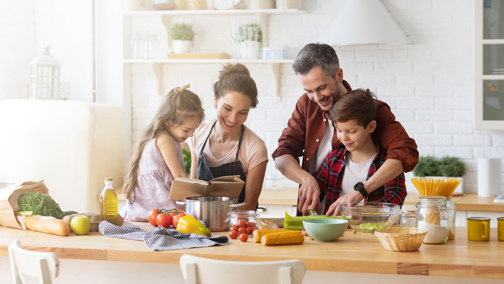 Picture of family cooking
