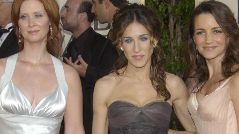 Sarah Jessica Parker, Kristin Davis, and Cynthia Nixon at Golden Globes