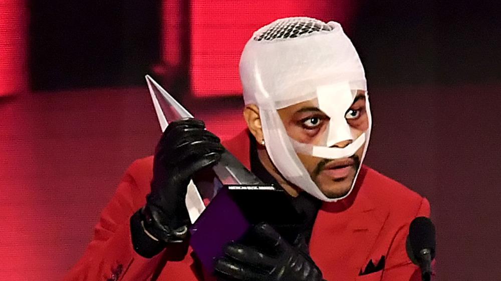 The Weeknd, bandaged face