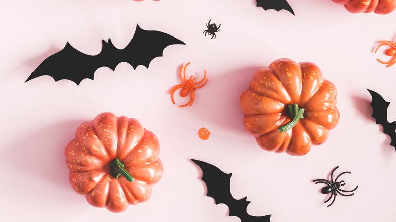 Pumpkins, bats, and spiders