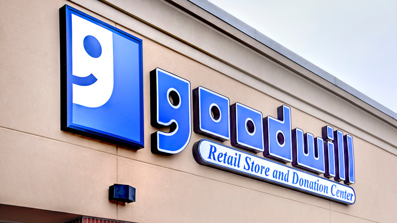A large Goodwill sign