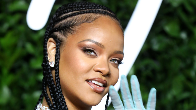 Rihanna with braids