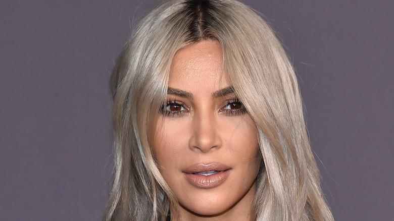 Kim Kardashian smiling