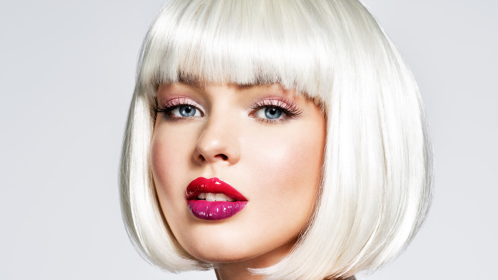 A woman with a bob and bangs