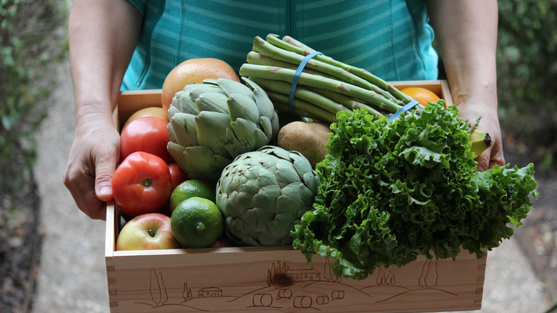 Vegetables in a box