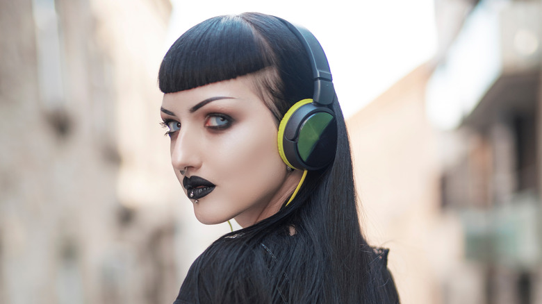 Goth looking young woman
