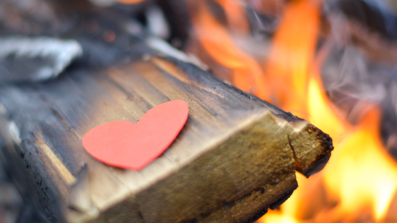 unrequited love - heart untouched by flame
