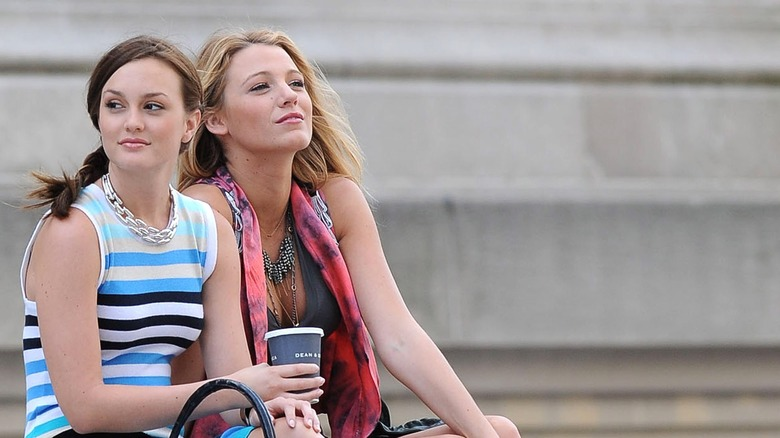 Leighton Meester and Blake Lively on Gossip Girl