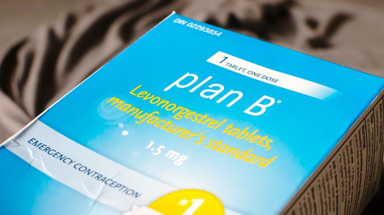 A box of Plan B pills