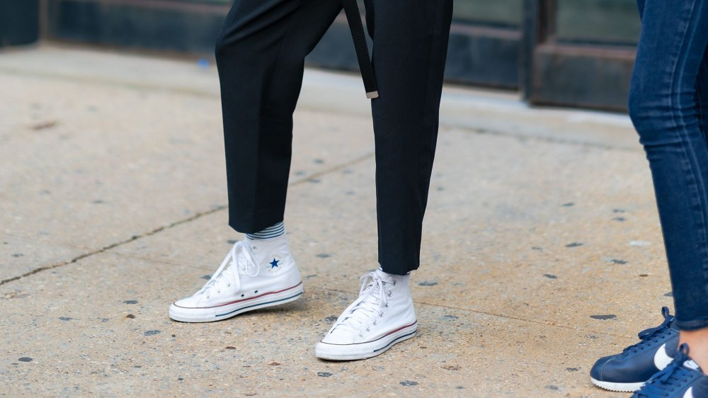 White shoes, sparkling clean