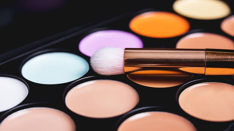 Color corrector concealer palette