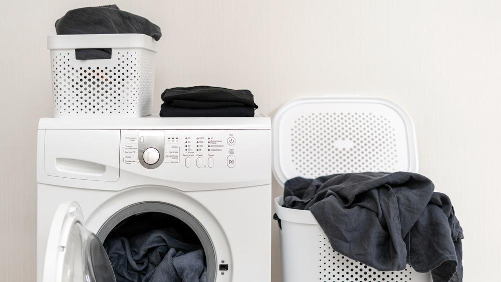 blanket in laundry