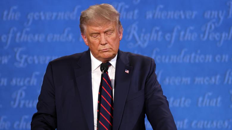 Trump at the podium