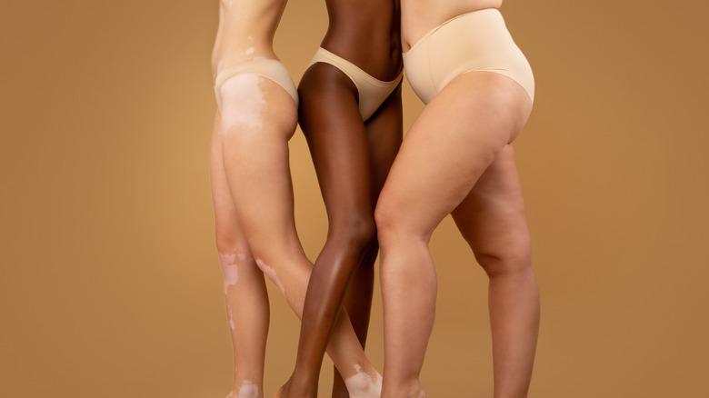 Women wearing underwear