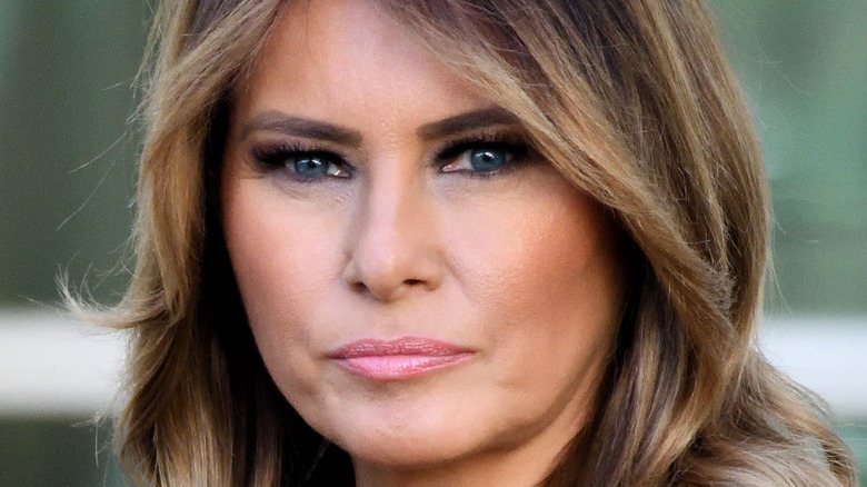 Melania Trump serious face 2019