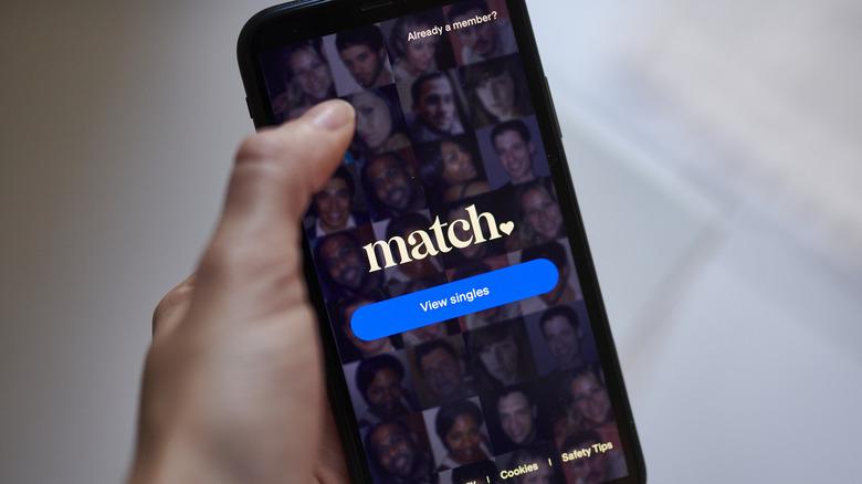 The Match app on phone