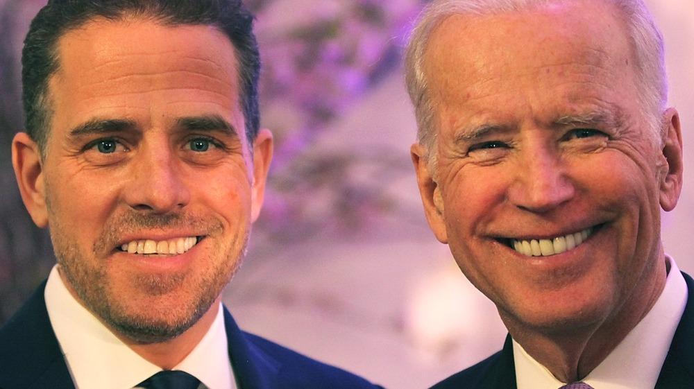 Joe Biden and Hunter Biden smiling
