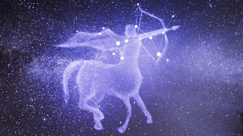 The Sagittarius constellation in the sky