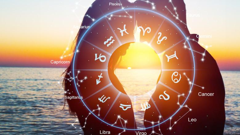 Couple at beach zodiac chart