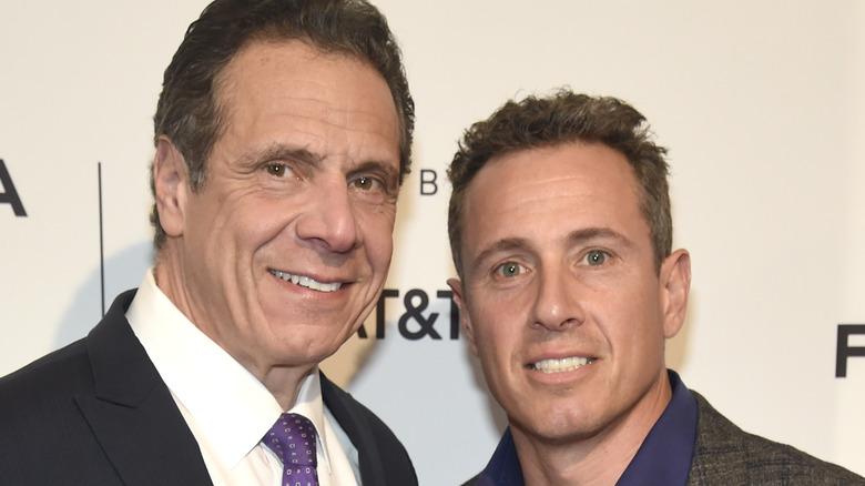 Andrew and Chris Cuomo posing at Tribeca film festival