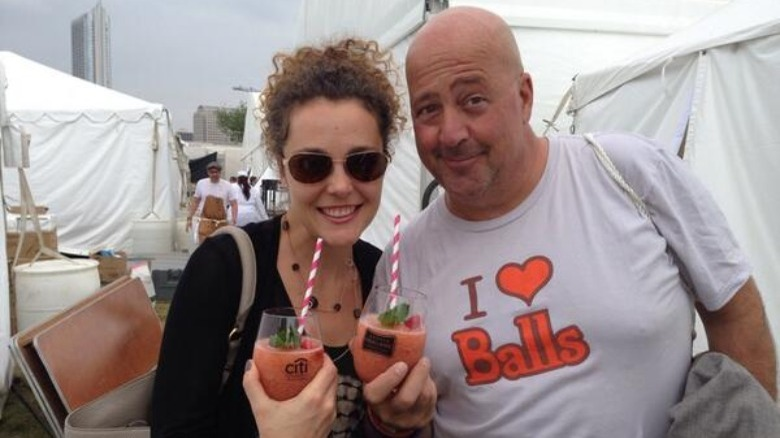 Andrew Zimmern and Rishia Haas in 2014
