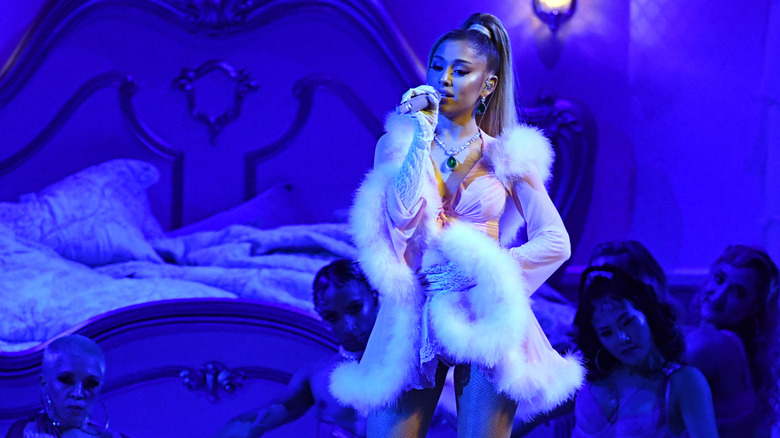 Ariana Grande performing