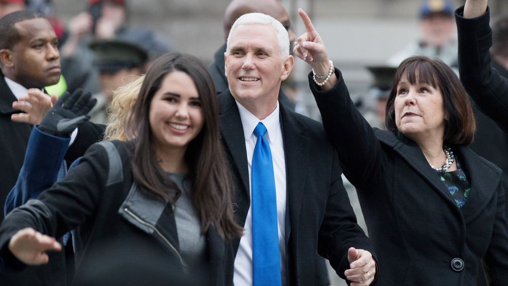 VP Mike Pence with daughter Audrey and wife Karen