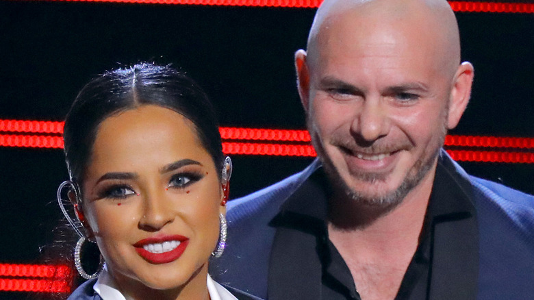 Becky G and Pitbull Onstage