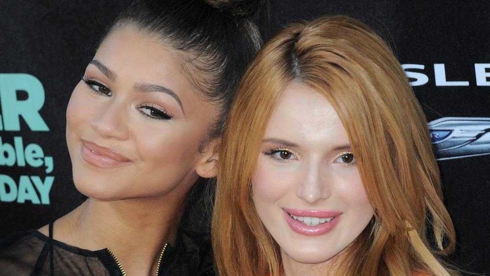 Bella Thorne and Zendaya posing