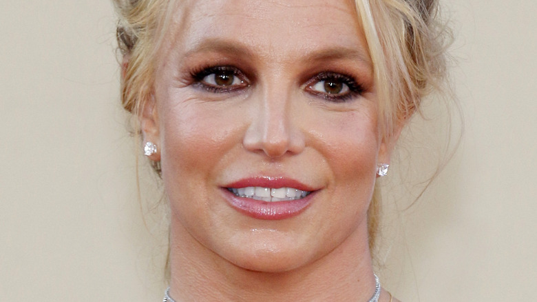 Britney Spears smiles at an event