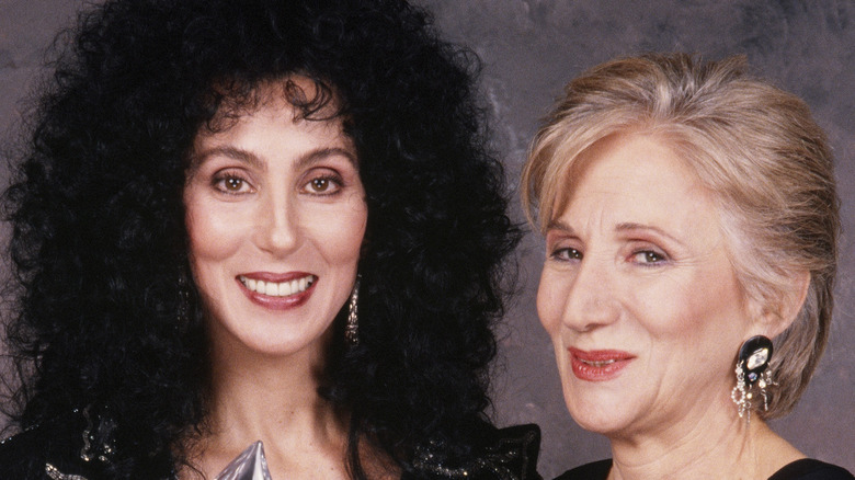 Cher and Olympia Dukakis in 1988