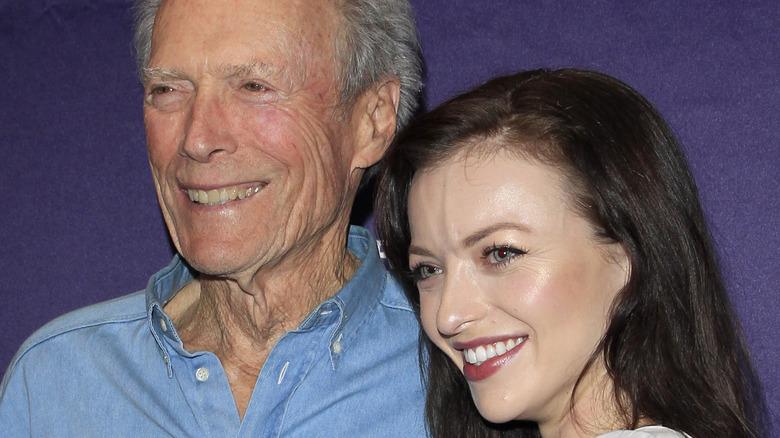 Clint Eastwood, Francesca Eastwood posing