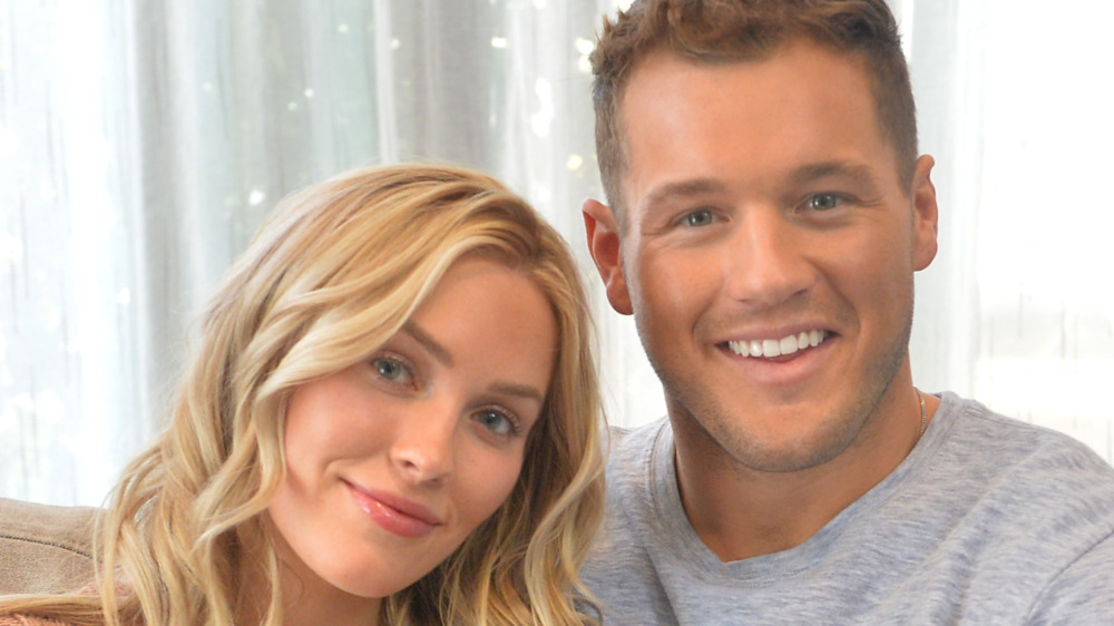 Colton Underwood and Cassie Randolph smiling