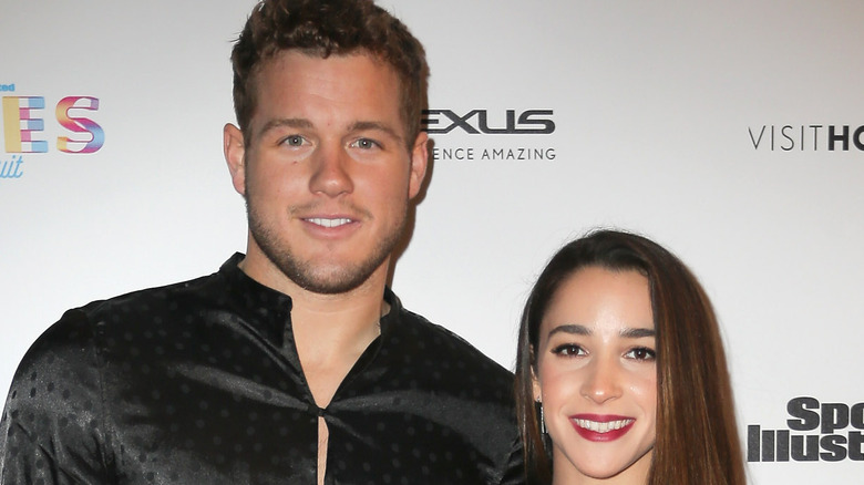 Colton Underwood and Aly Raisman at event