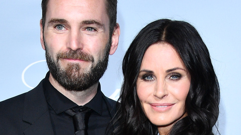 Courteney Cox and Johnny McDaid at event