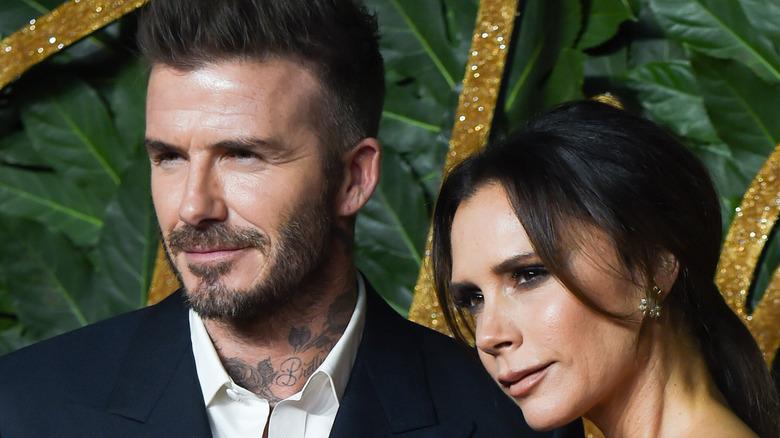 David and Victoria Beckham at event