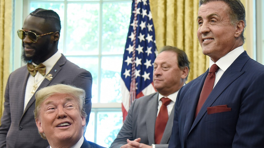 Donald Trump, Sylvester Stallone laughing