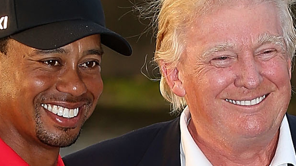 Tiger Woods and Donald Trump