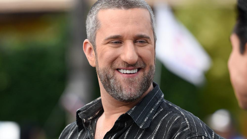 Gray-haired Dustin Diamond smiling